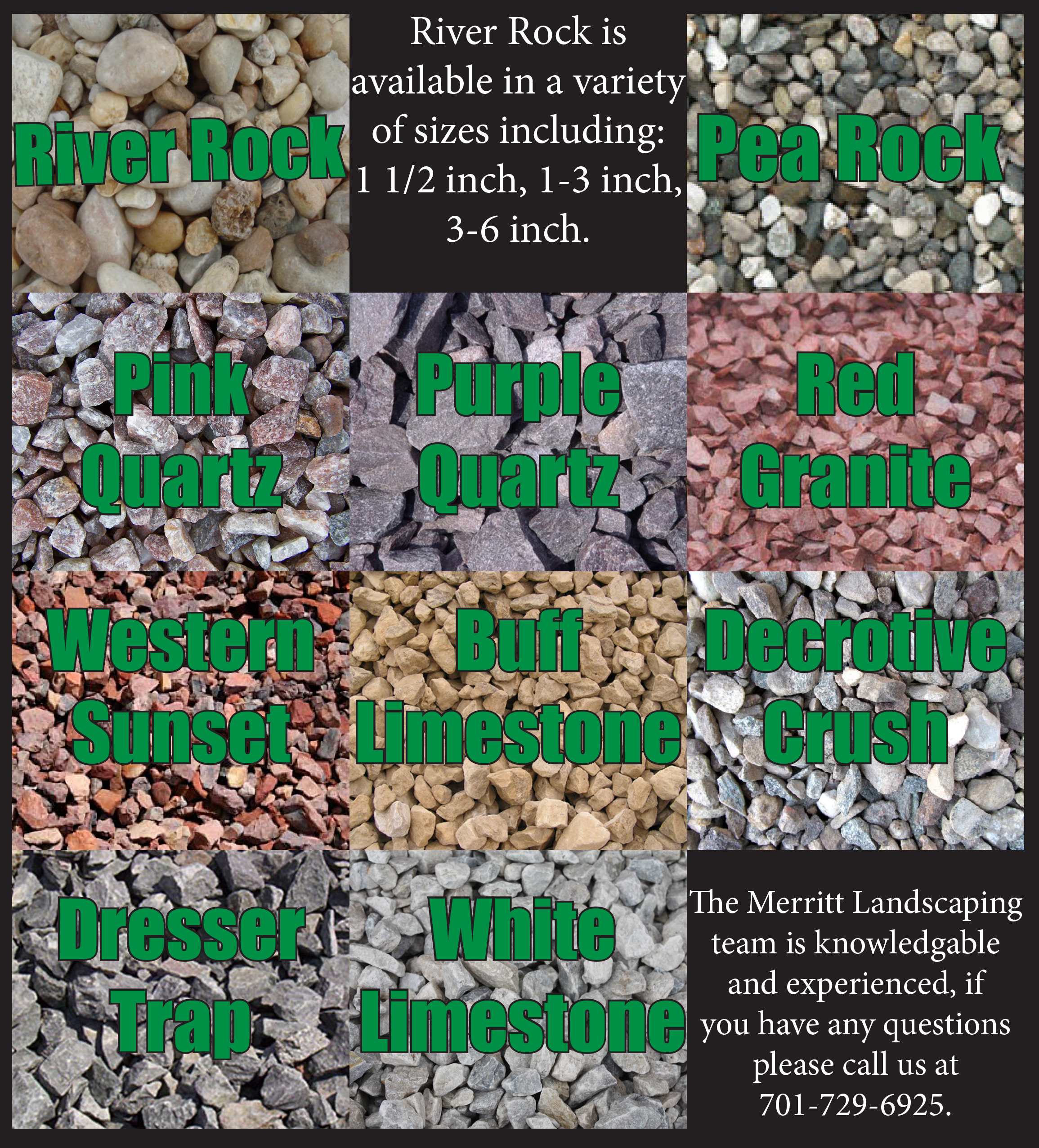 Types of river rock for landscaping home ideas for Different color rocks for landscaping